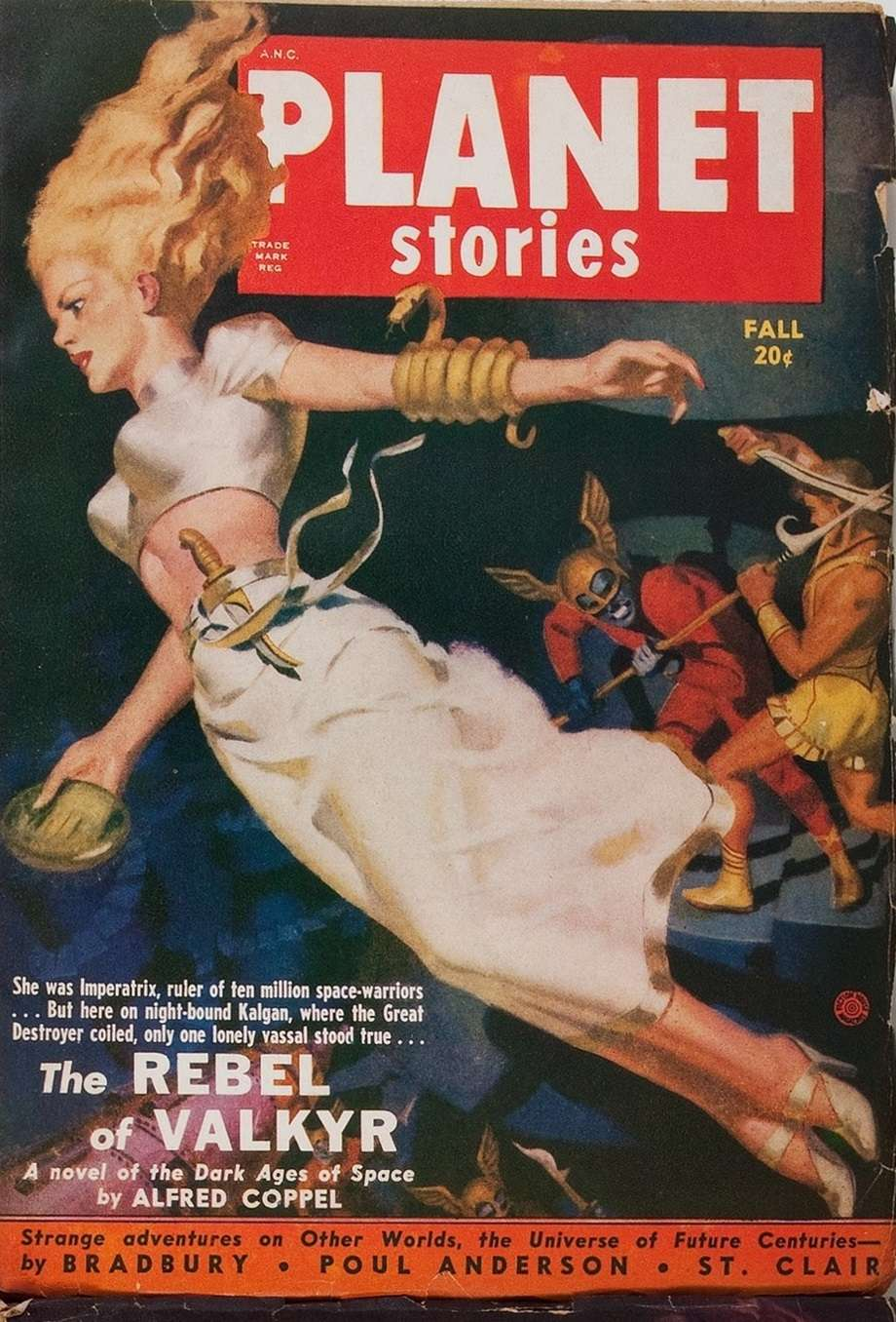 Comic Book Cover For Planet Stories v04 08 - The Rebel of Valkyr - Alfred Coppel, Jr.