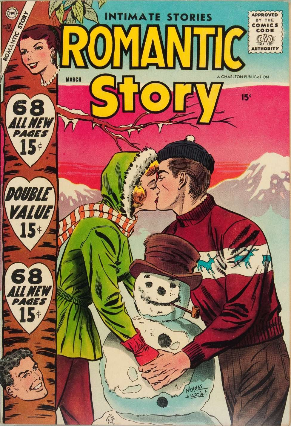 Comic Book Cover For Romantic Story #39