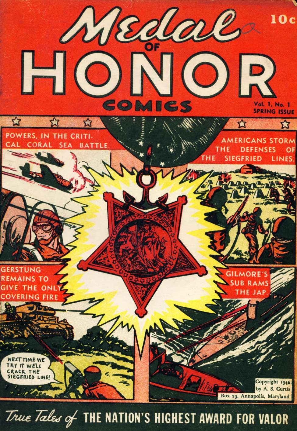 Comic Book Cover For Medal of Honor Comics #1