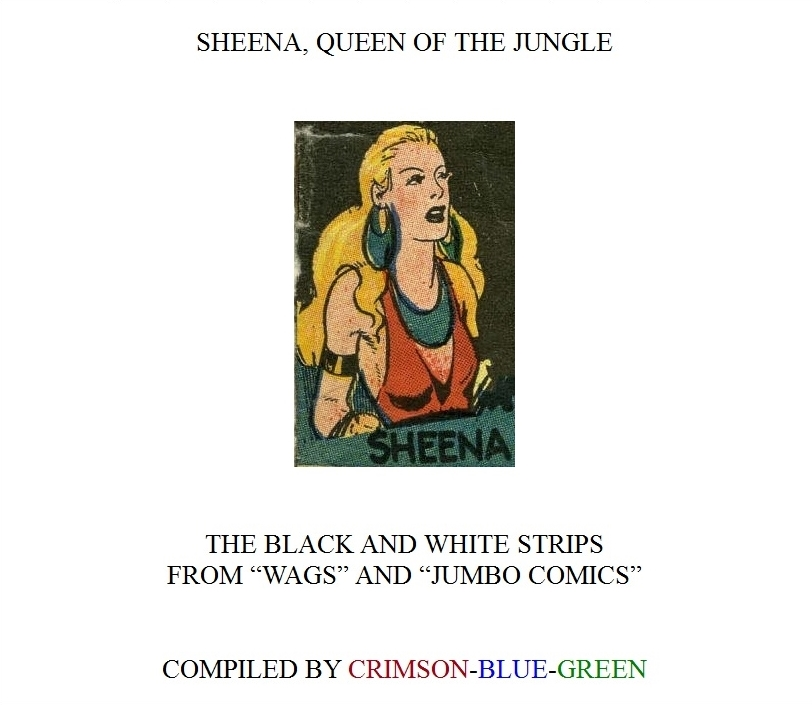 Comic Book Cover For Sheena In B&W