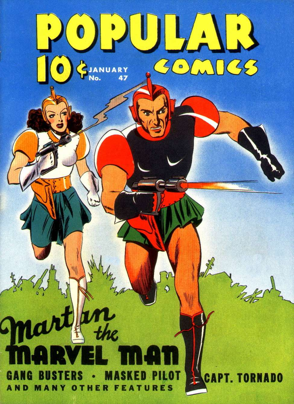 Comic Book Cover For Popular Comics #47