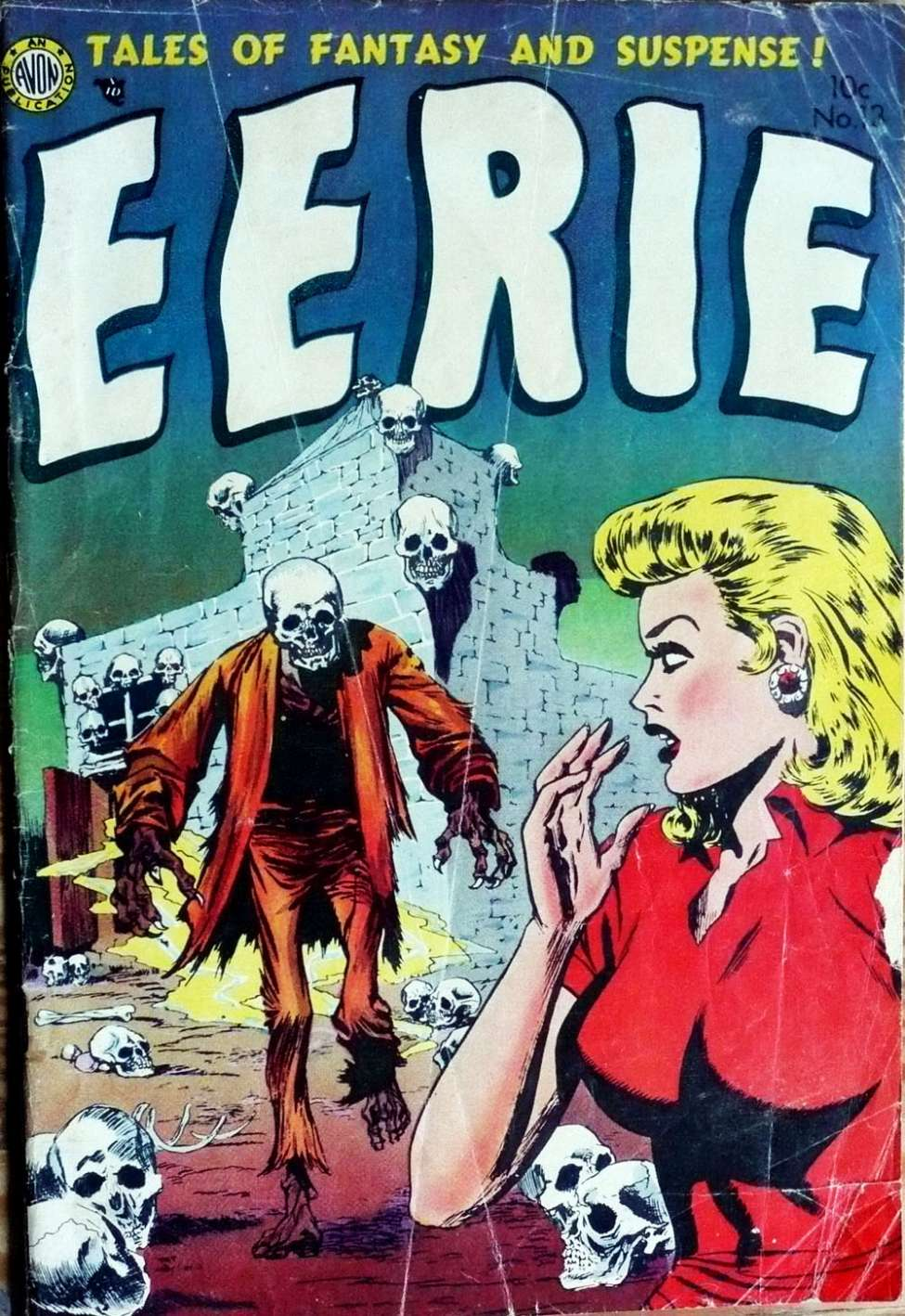 Comic Book Cover For Eerie #13