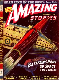 Large Thumbnail For Amazing Stories v15 02 - Battering Rams of Space - Don Wilcox