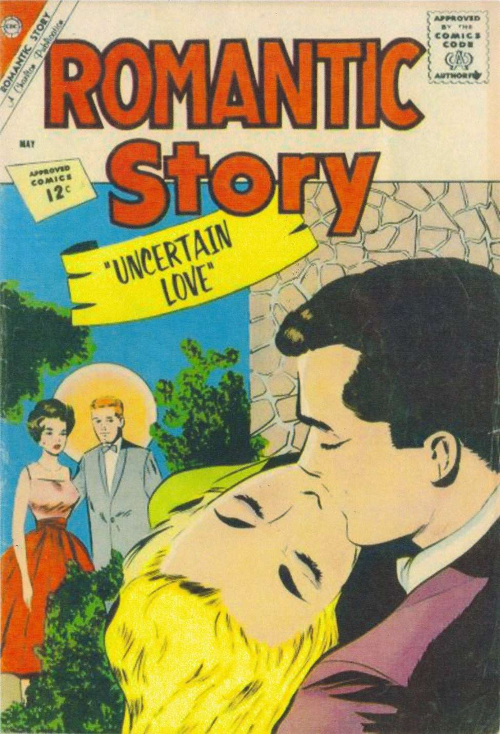 Comic Book Cover For Romantic Story #60