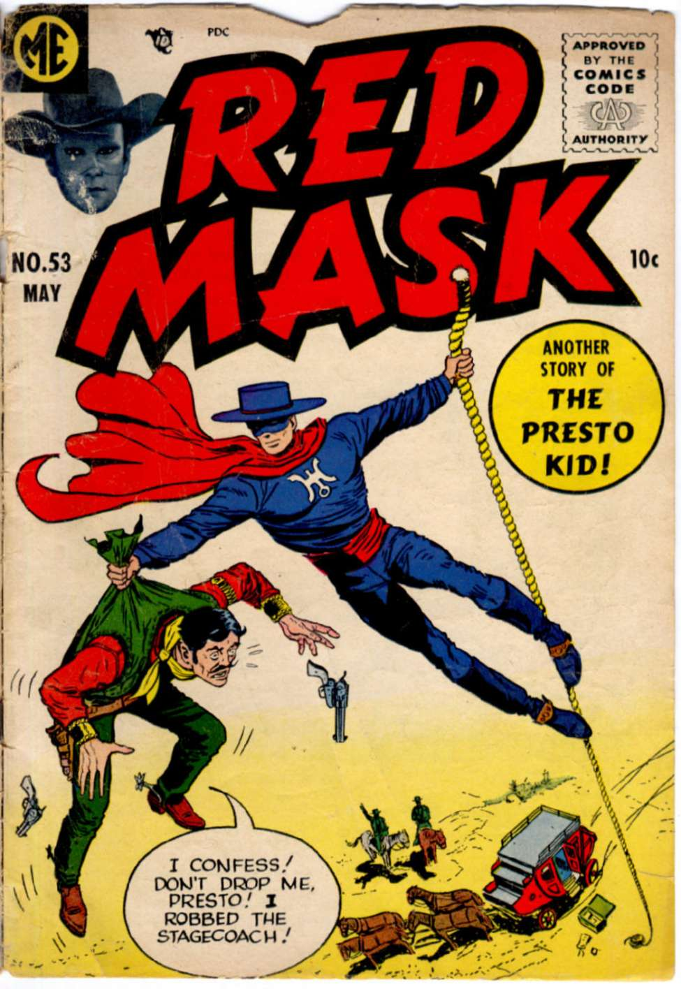 Comic Book Cover For Red Mask #53