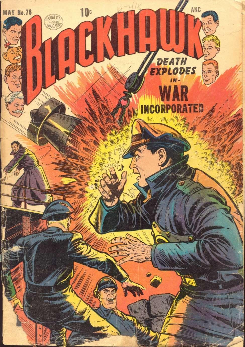Comic Book Cover For Blackhawk #76