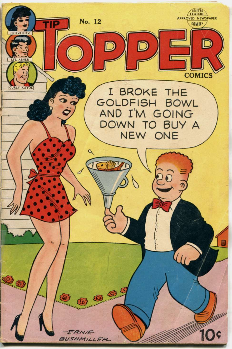 Comic Book Cover For Tip Topper Comics 12