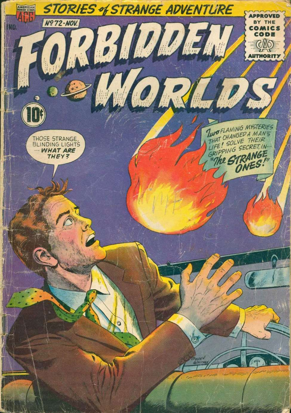 Comic Book Cover For Forbidden Worlds #72