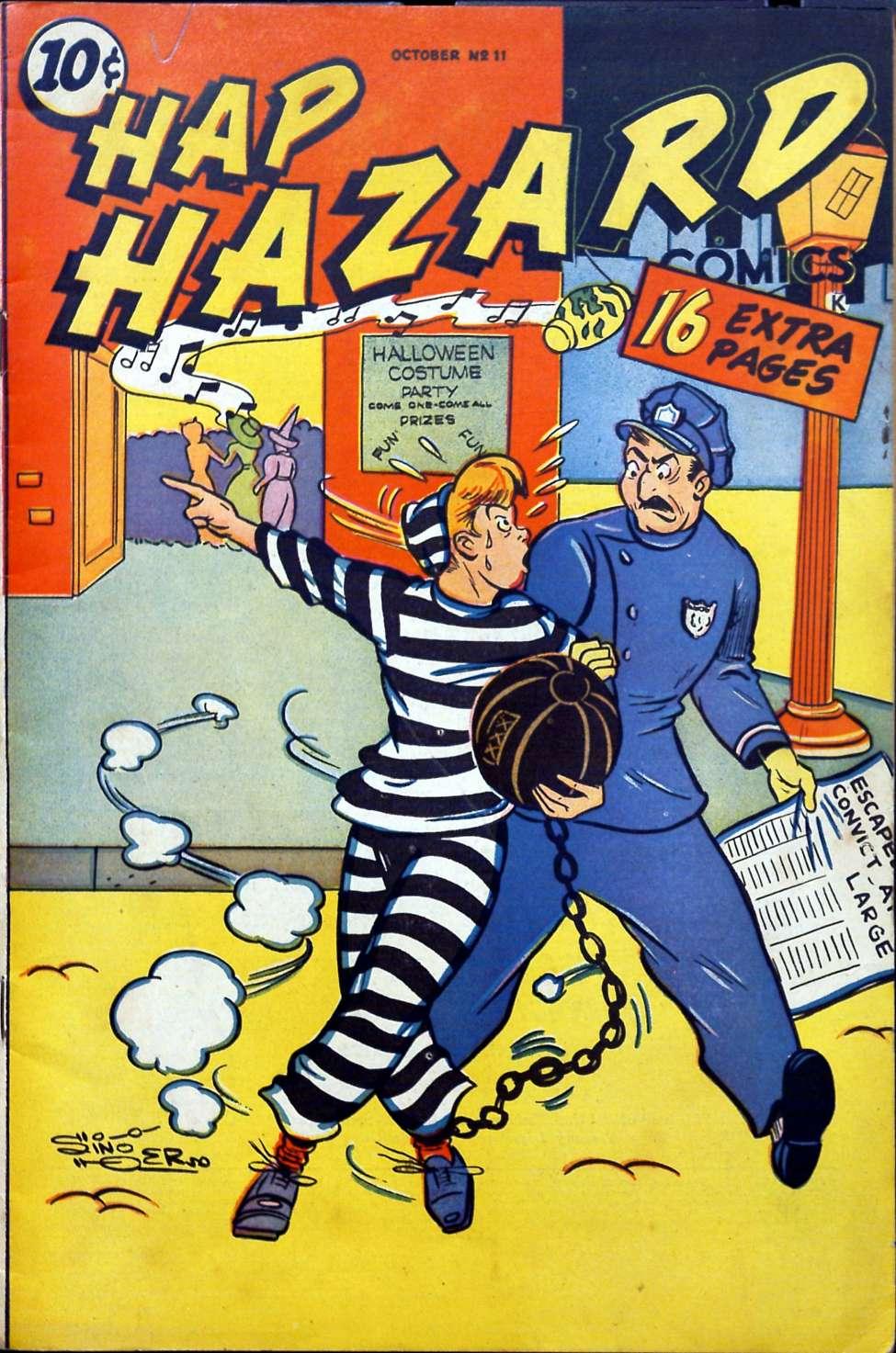 Comic Book Cover For Hap Hazard Comics #11