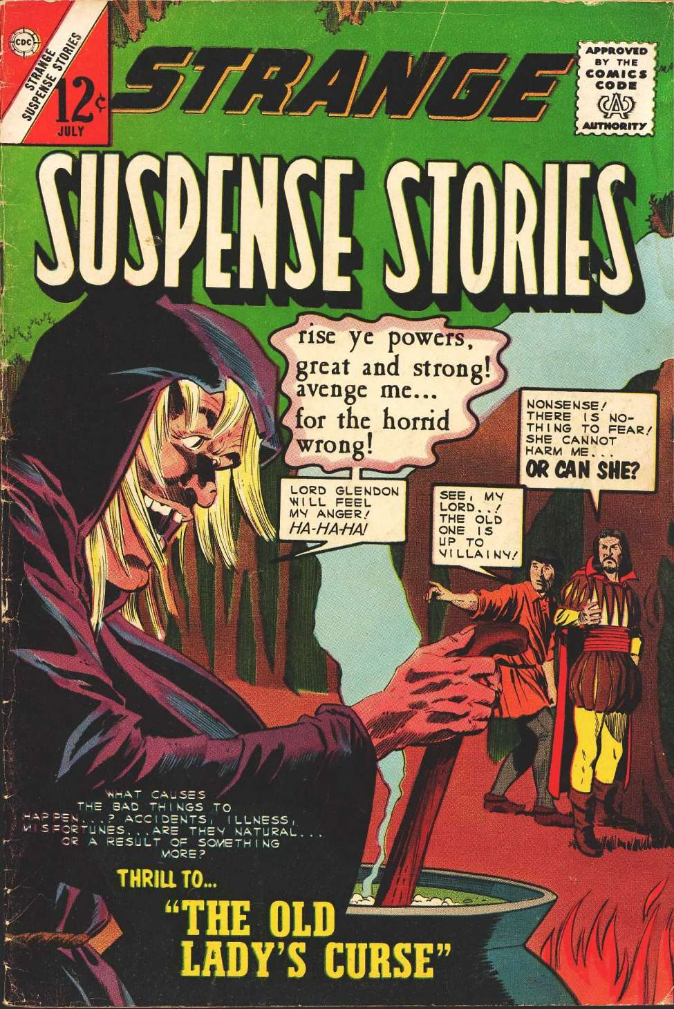 Comic Book Cover For Strange Suspense Stories #71
