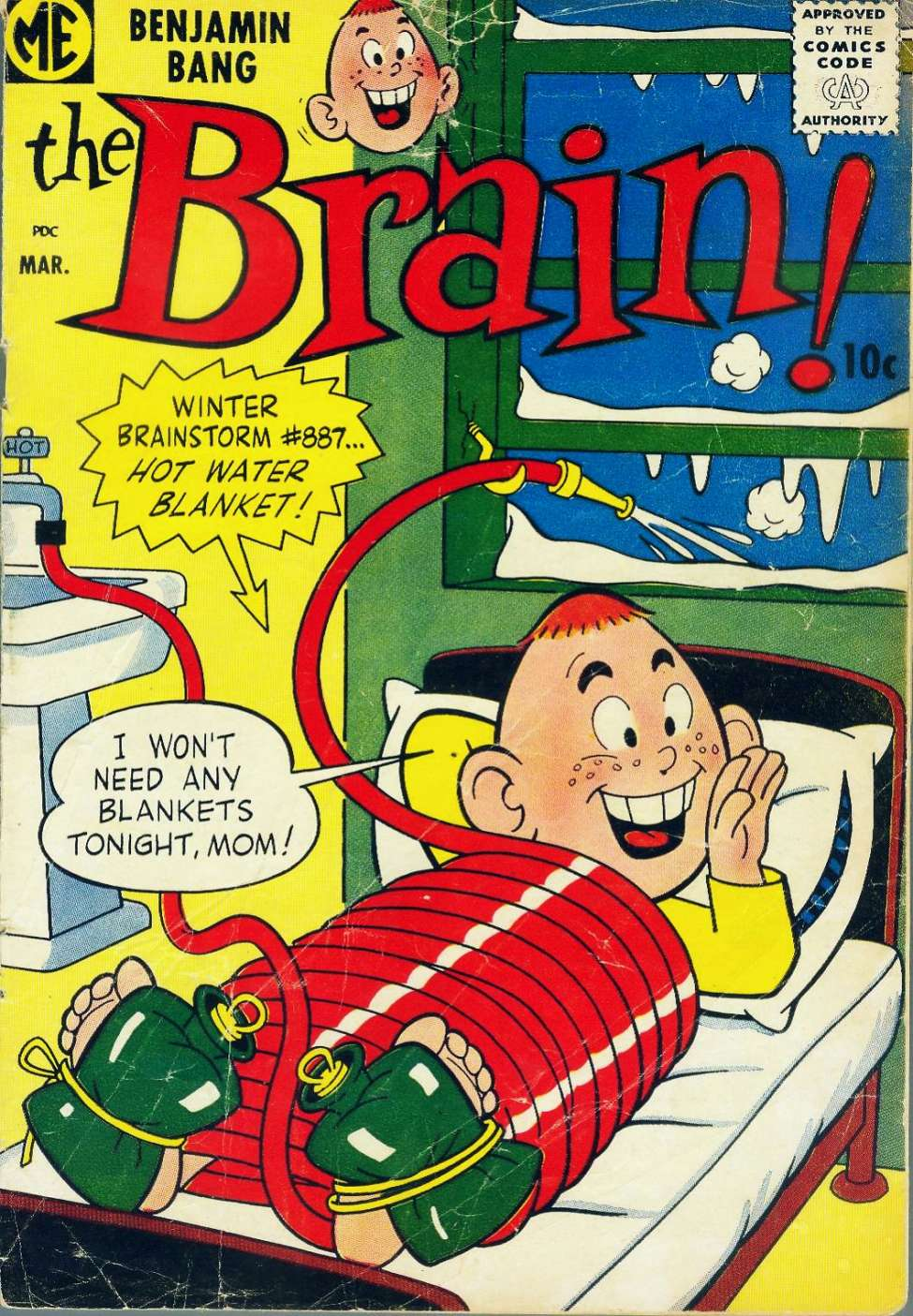 Comic Book Cover For The Brain #7
