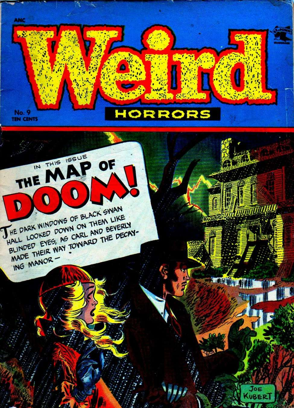 Comic Book Cover For Weird Horrors #9