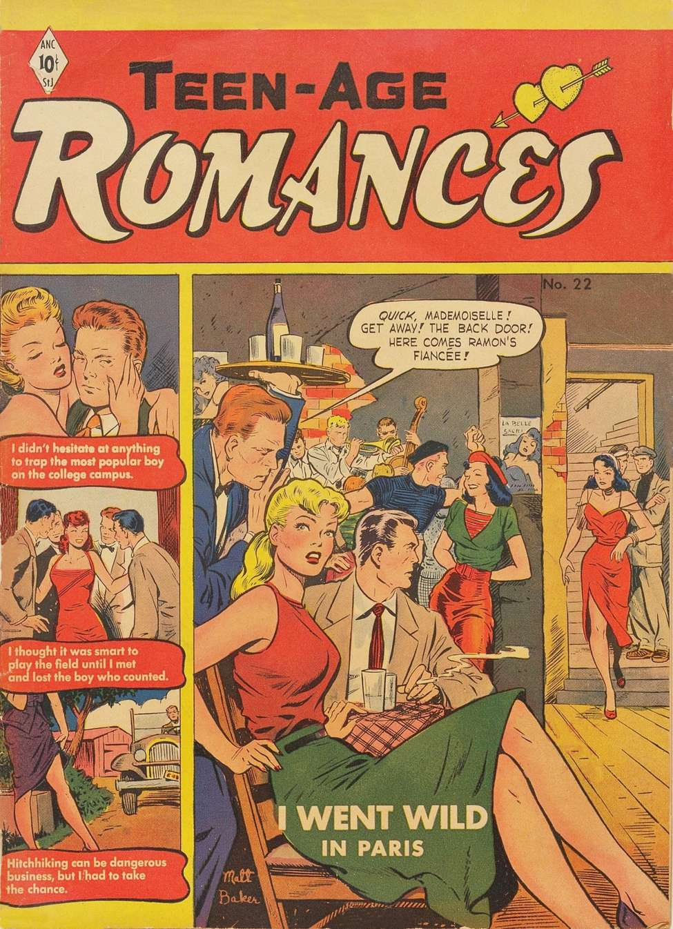 Comic Book Cover For Teen-Age Romances #22