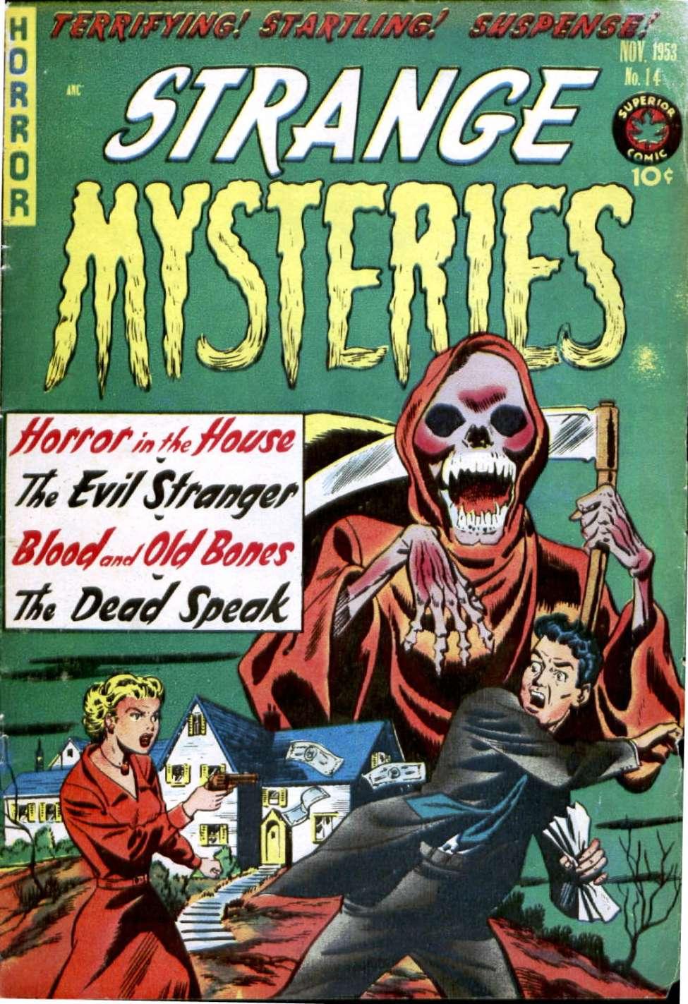 Comic Book Cover For Strange Mysteries #14