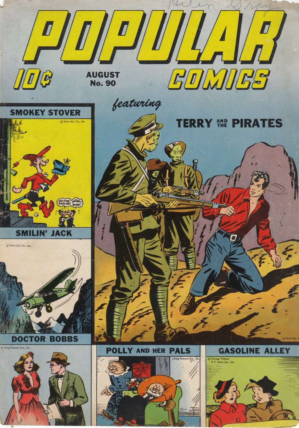 Comic Book Cover For Popular Comics #90
