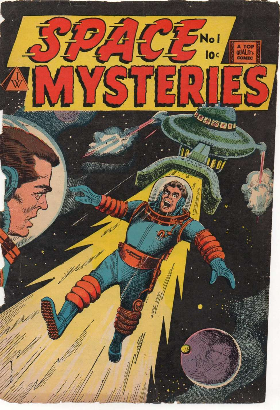 Comic Book Cover For Space Mysteries #1