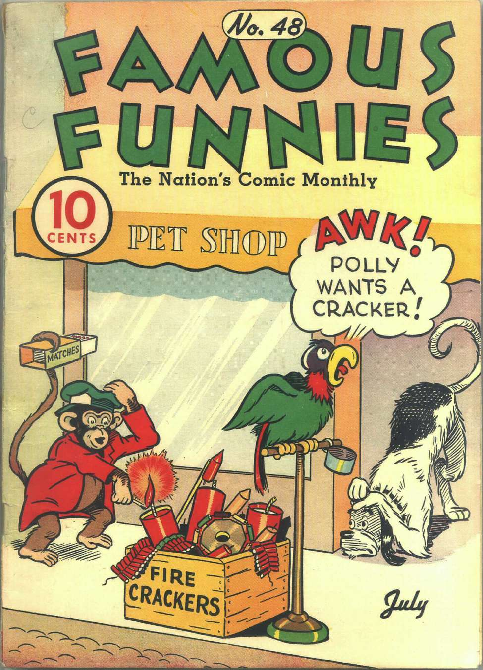 Comic Book Cover For Famous Funnies #48