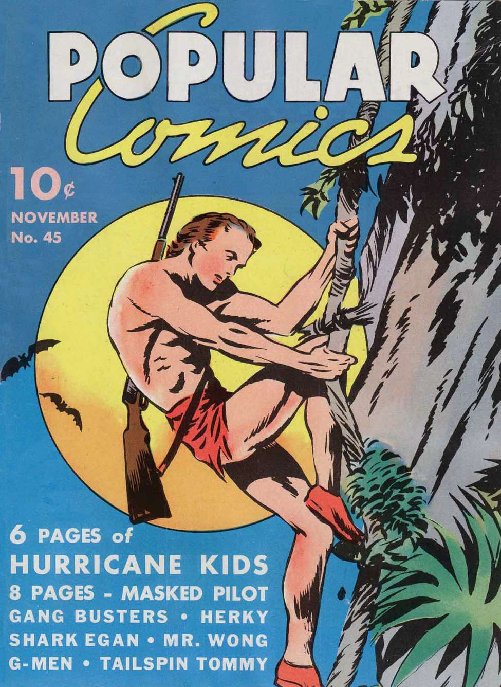 Comic Book Cover For Popular Comics #45