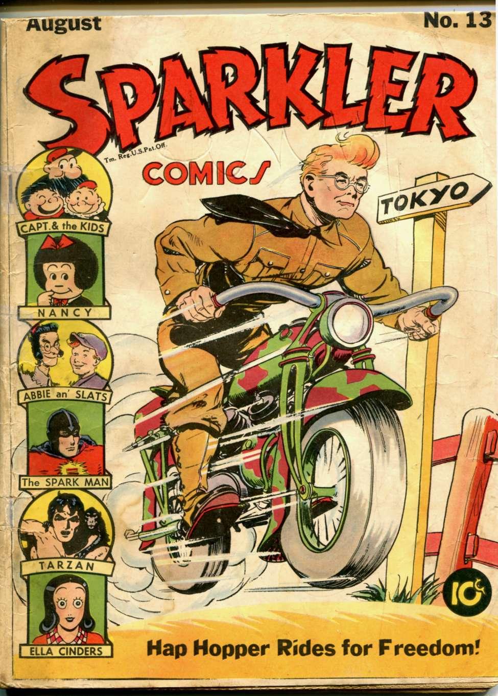 Comic Book Cover For Sparkler Comics #13