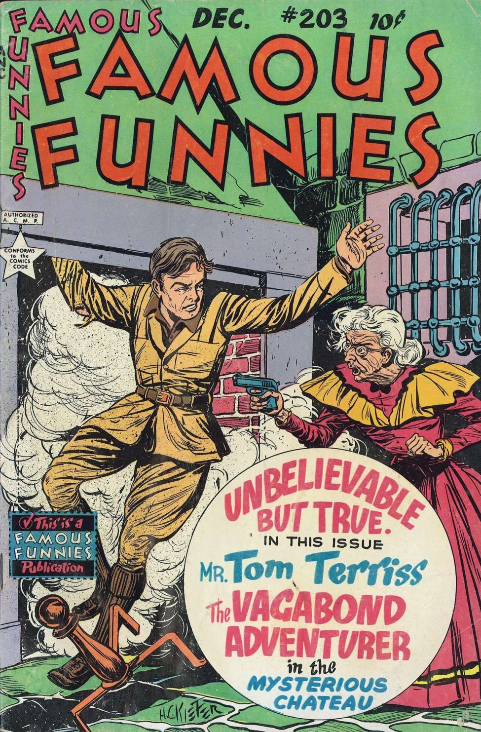 Comic Book Cover For Famous Funnies #203