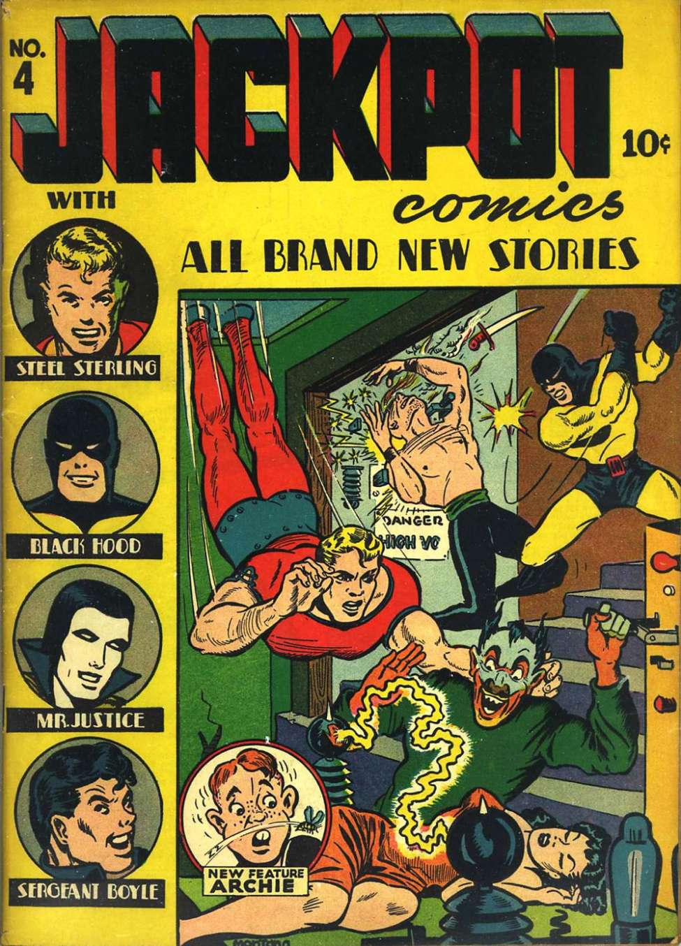 Comic Book Cover For Archie From MLJ Jackpot
