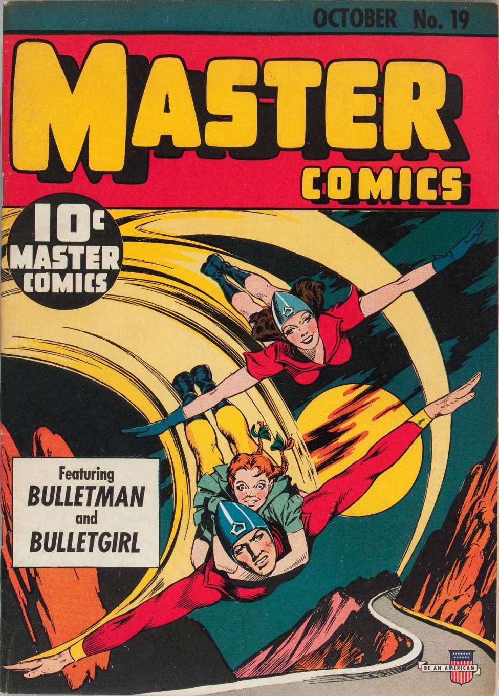 Comic Book Cover For Master Comics #19