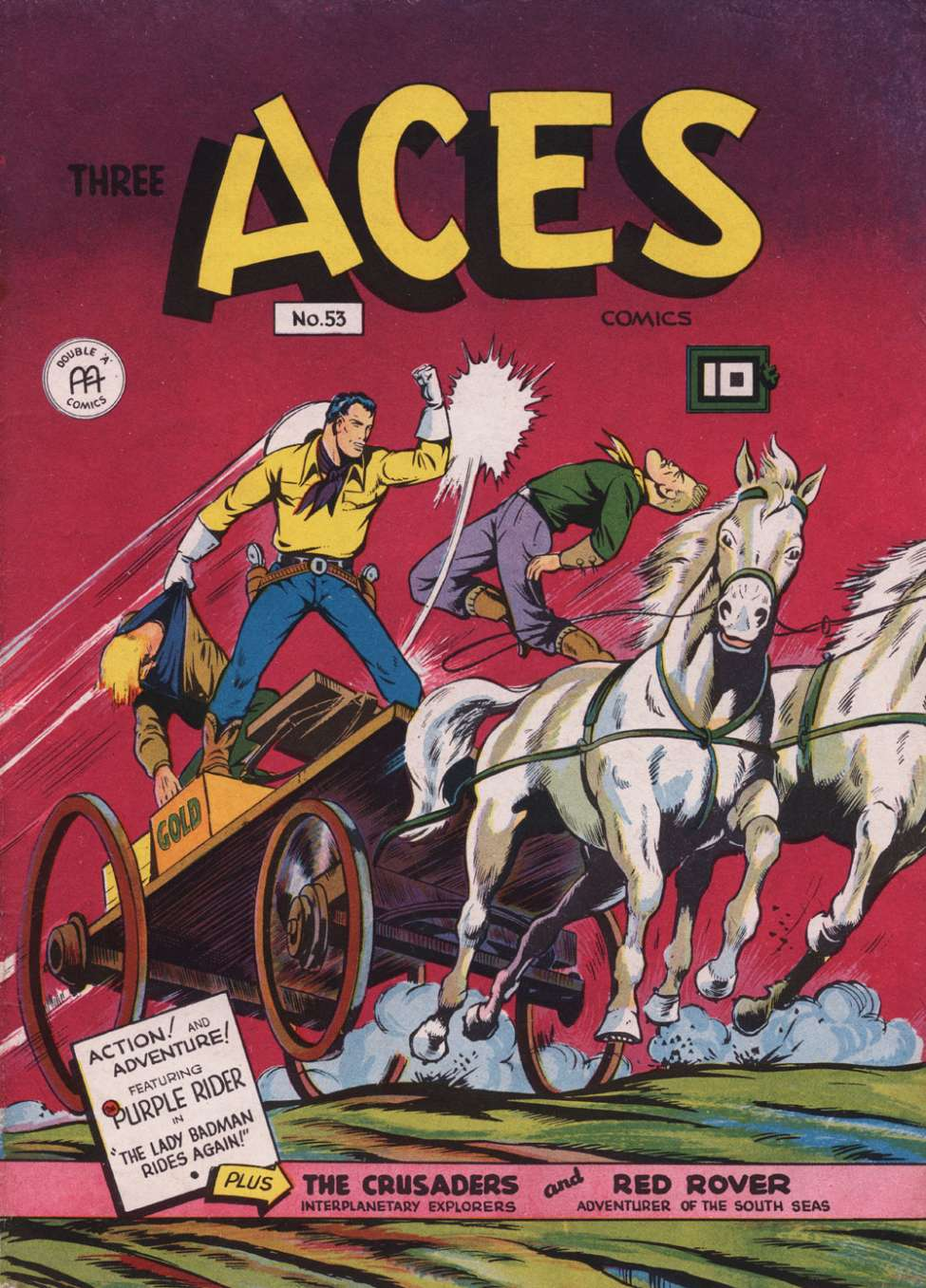 Comic Book Cover For Three Aces Comics #53