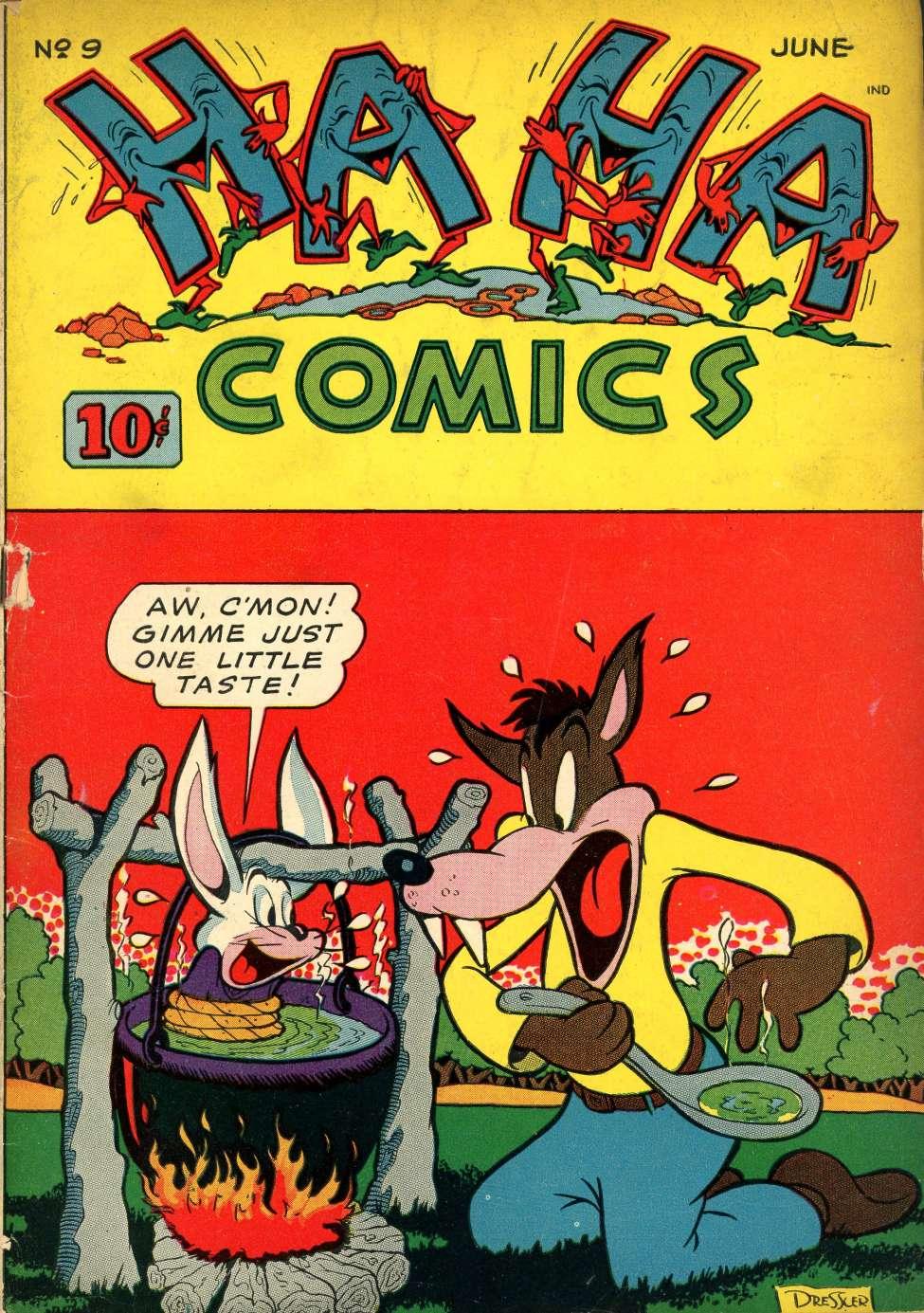 Comic Book Cover For Ha Ha Comics #9