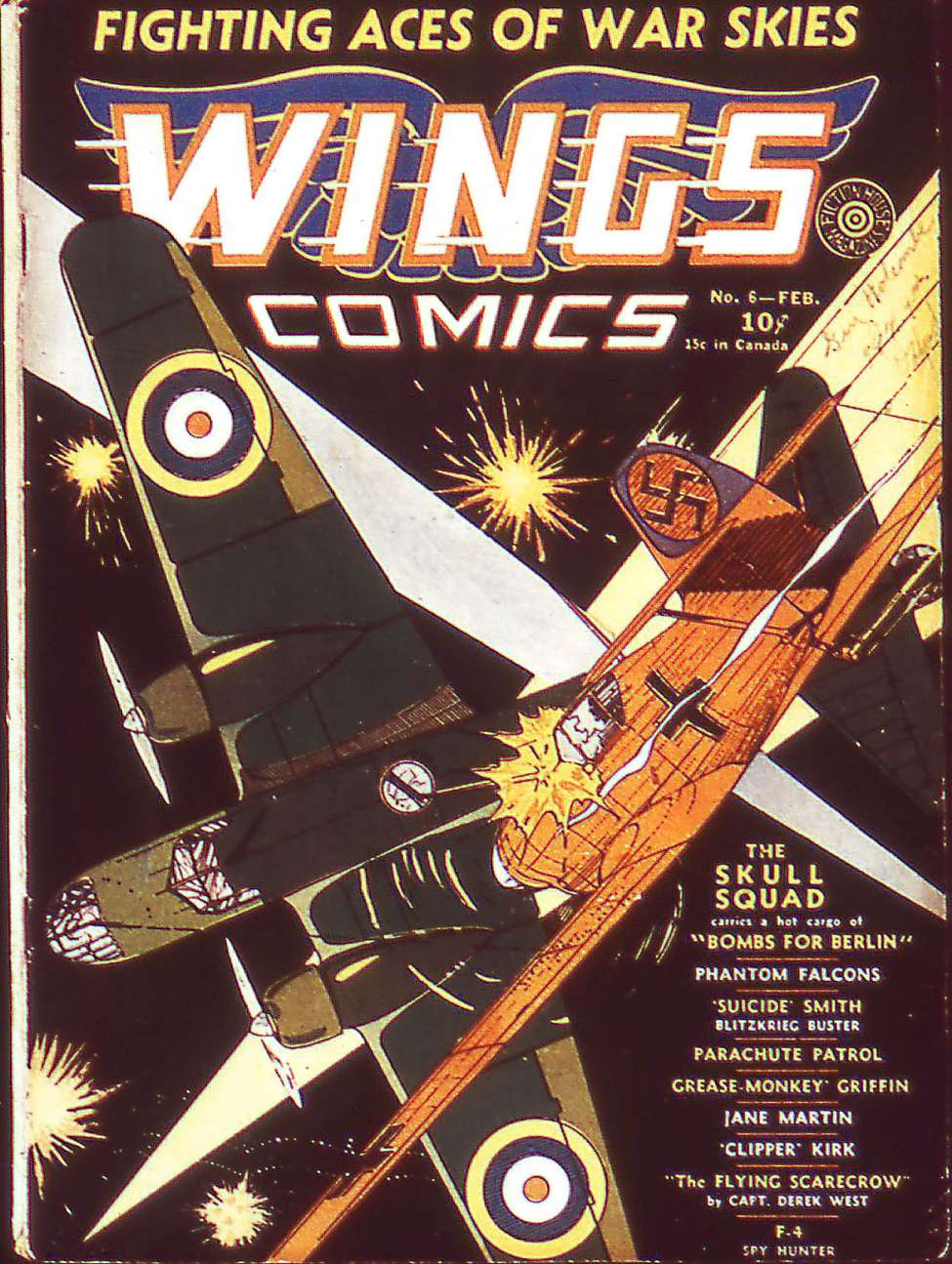 Comic Book Cover For Wings Comics #6