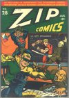 Cover For Zip Comics 28