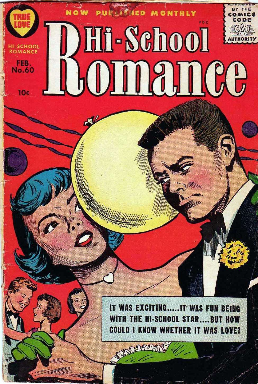 Comic Book Cover For Hi-School Romance #60