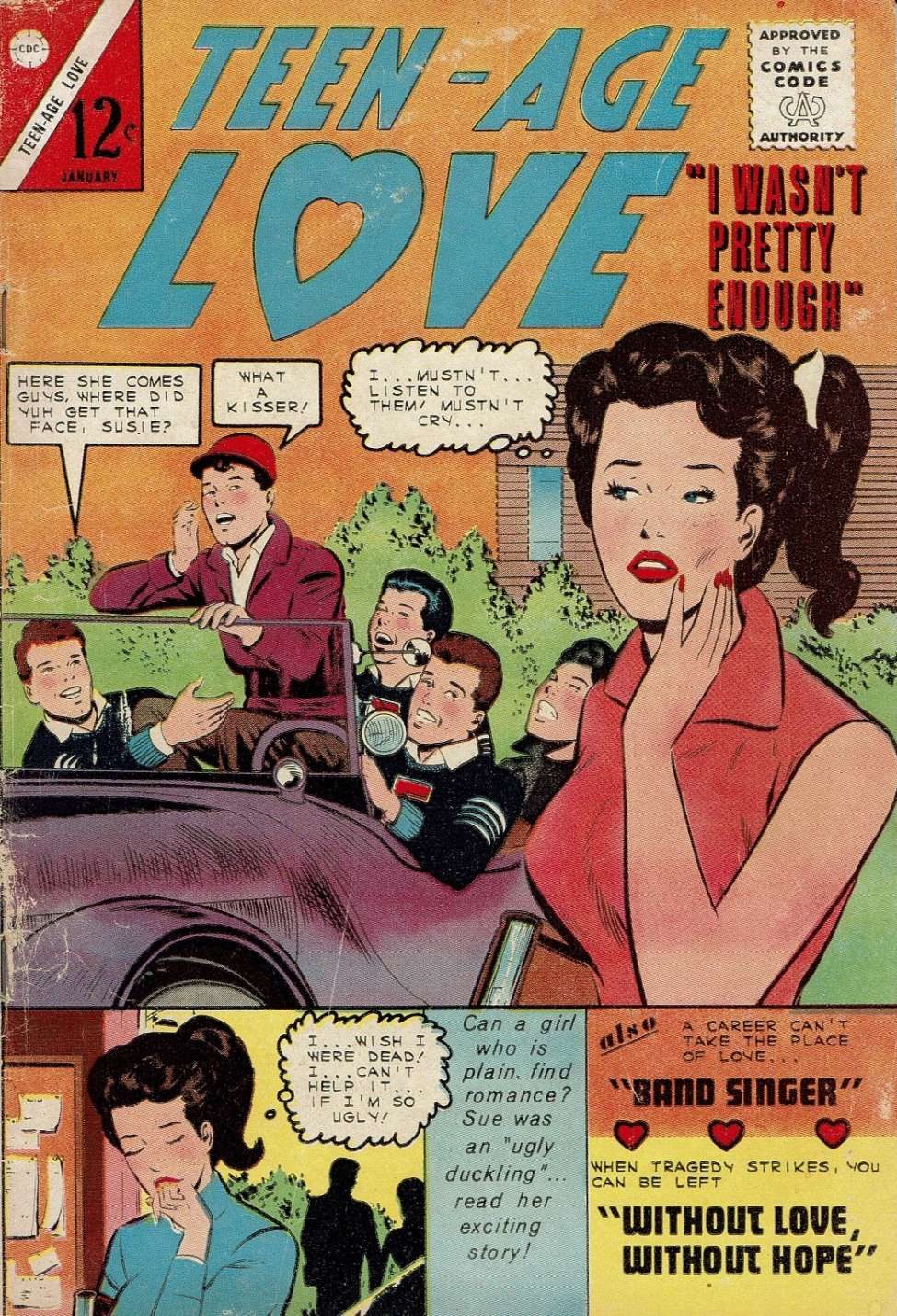 Comic Book Cover For Teen-Age Love #40