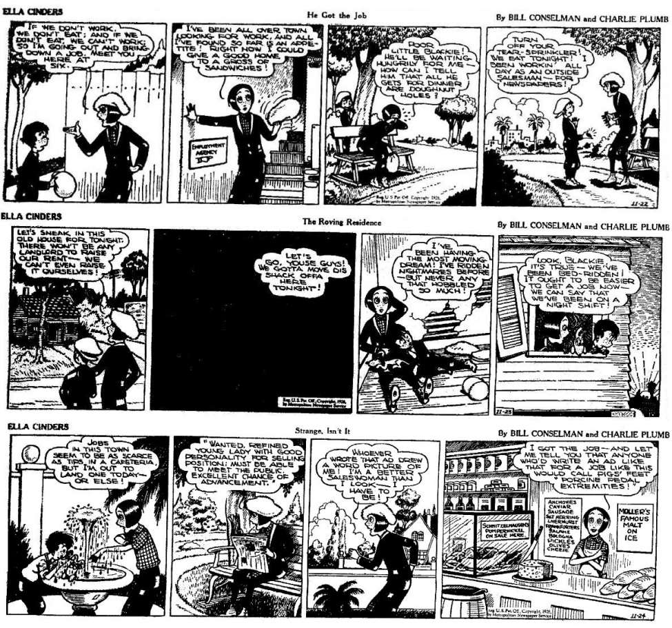 Comic Book Cover For Ella Cinders 1926.11.22 - 1927.02.12