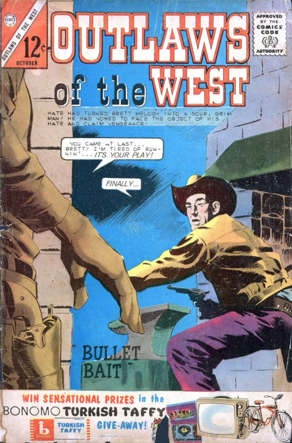 Comic Book Cover For Outlaws of the West #45