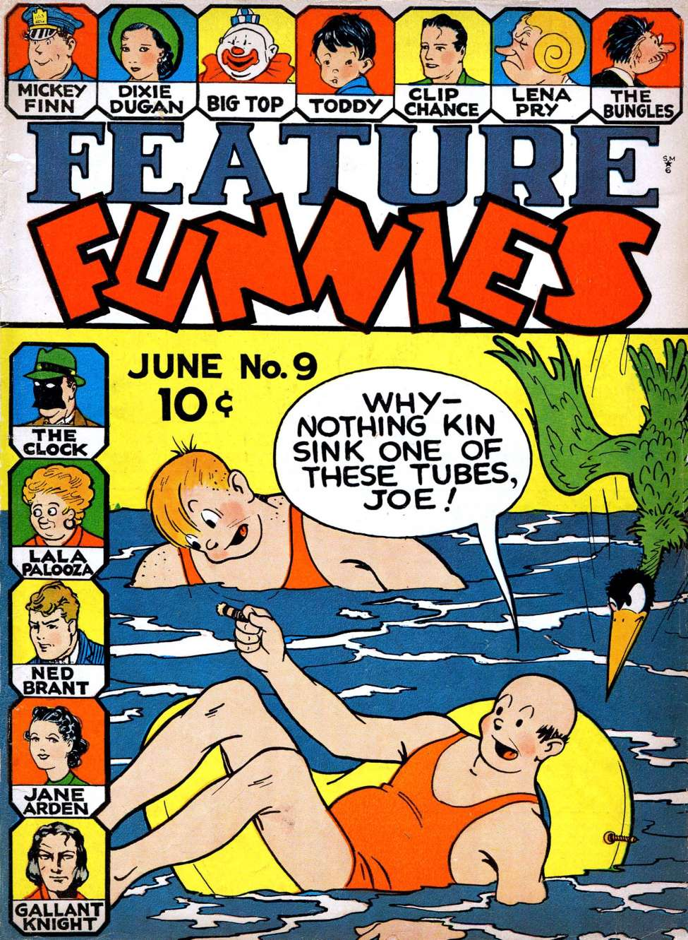 Comic Book Cover For Feature Funnies #9
