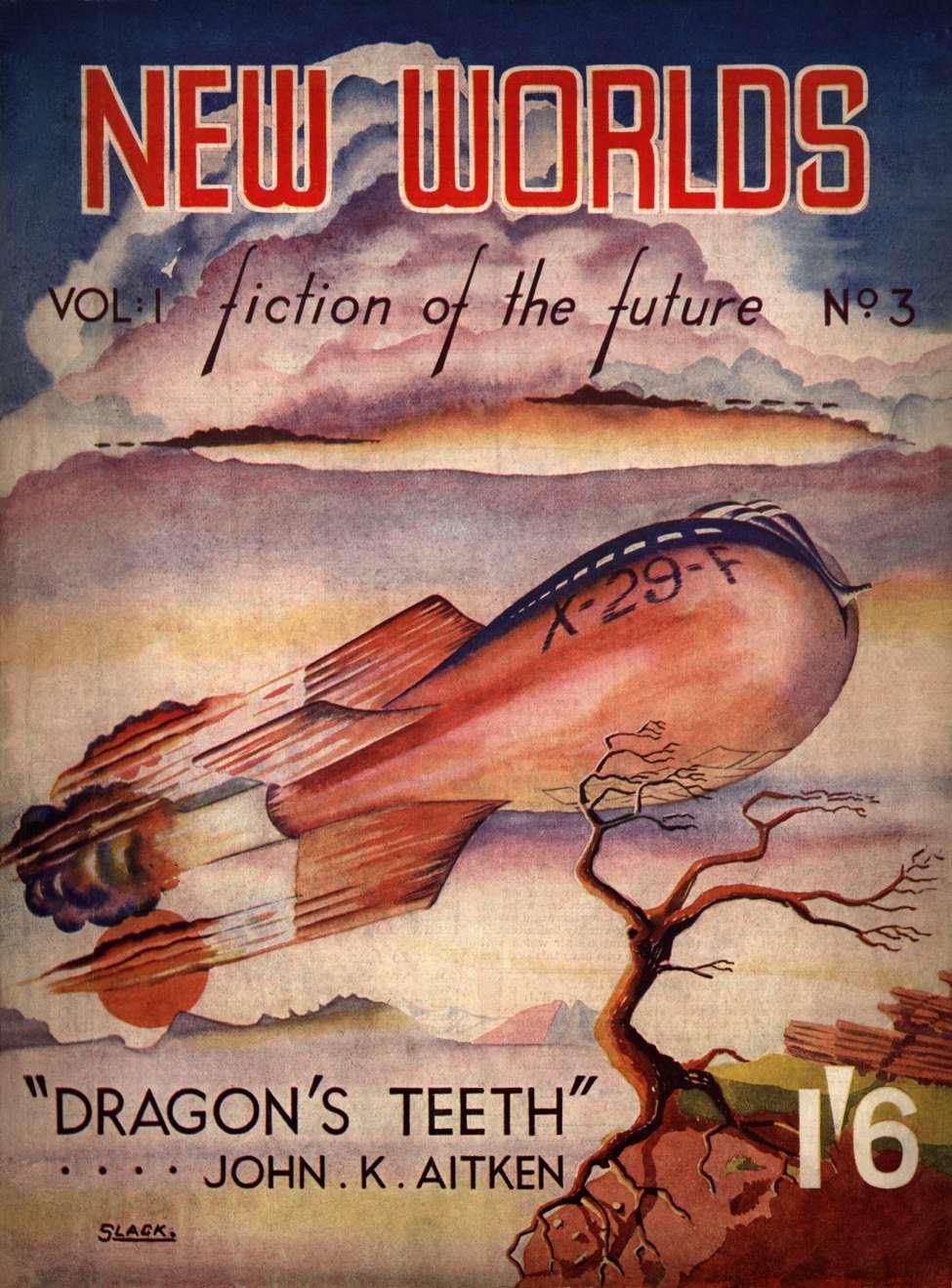 Comic Book Cover For New Worlds v01 003 - Dragon's Teeth - John K. Aiken