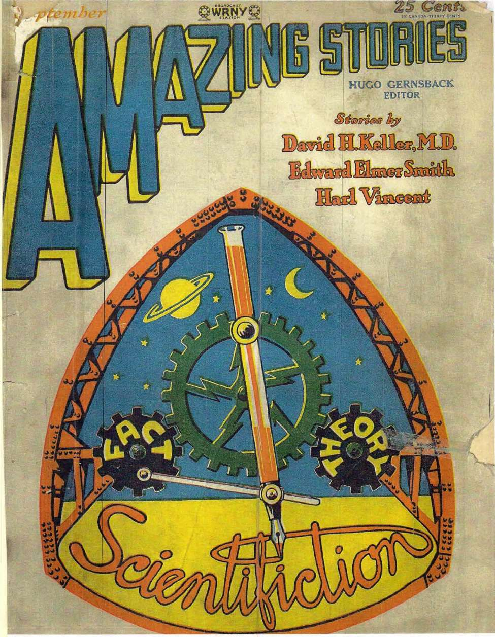 Comic Book Cover For Amazing Stories v03 06 - The Ambassador from Mars - Harl Vincent