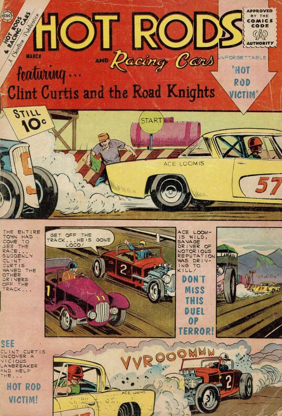 Comic Book Cover For Hot Rods and Racing Cars #56