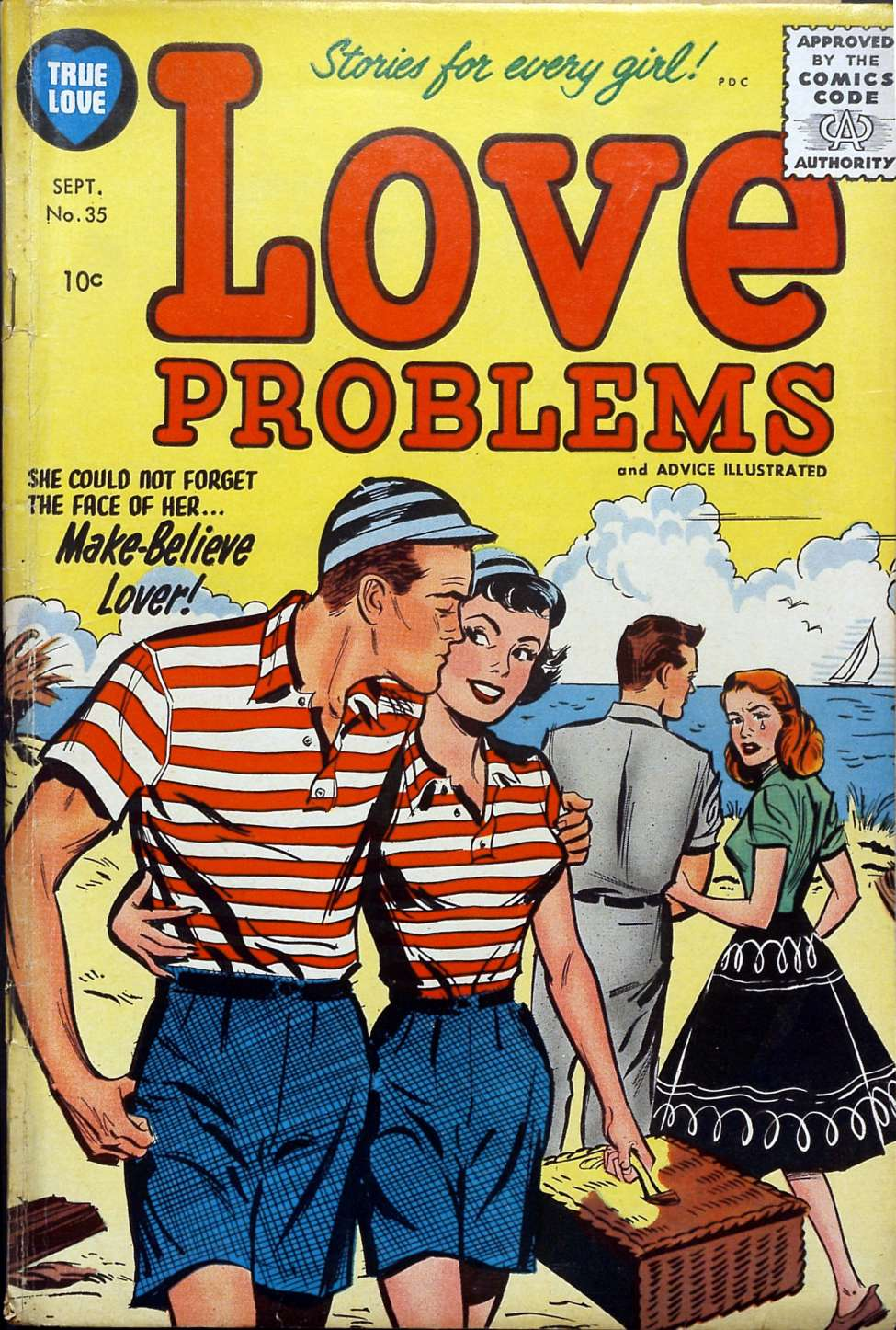 Comic Book Cover For True Love Problems and Advice Illustrated #35
