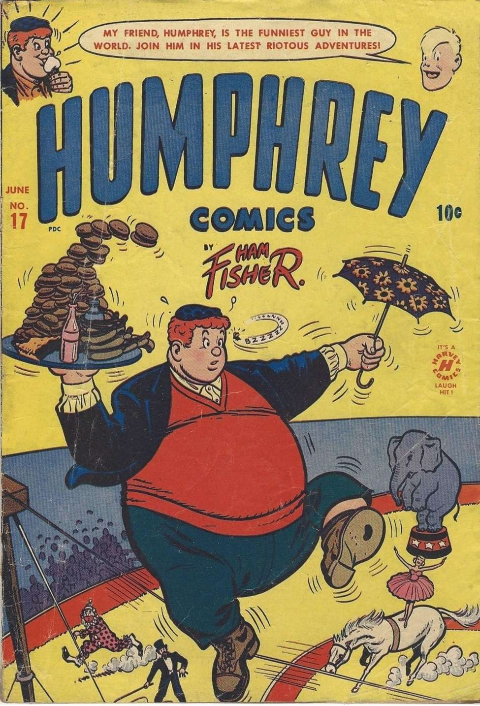 Comic Book Cover For Humphrey Comics #17