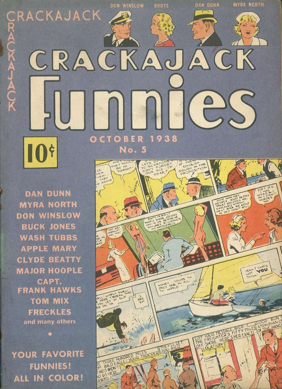 Comic Book Cover For Crackajack Funnies #5