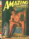 Cover For Amazing Stories v20 8 The Return of Sathanas Richard S. Shaver