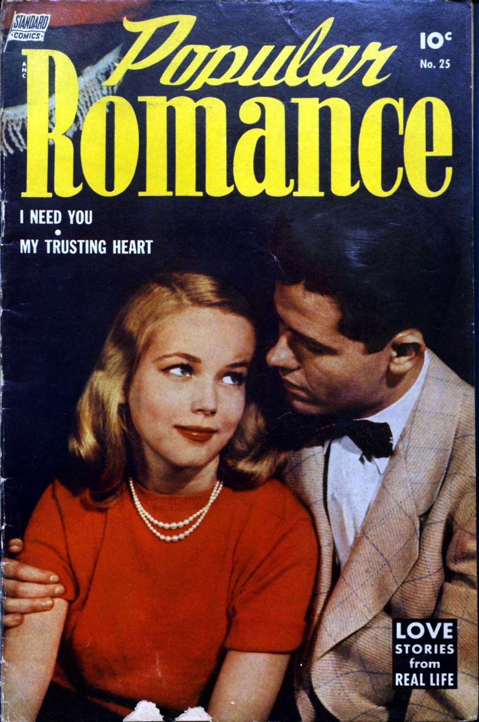 Comic Book Cover For Popular Romance #25