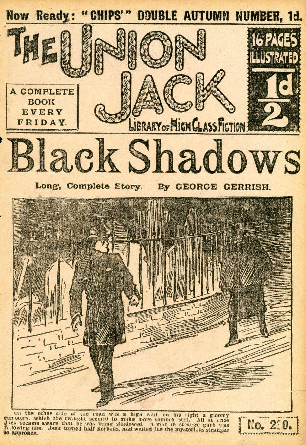 Comic Book Cover For The Union Jack 230 - Black Shadows