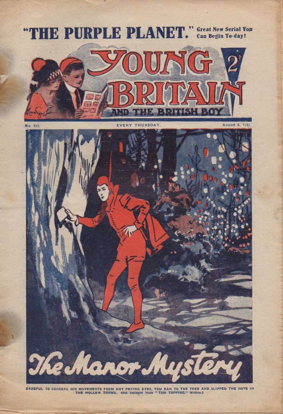 Comic Book Cover For Young Britain 113 - Treasure Trail
