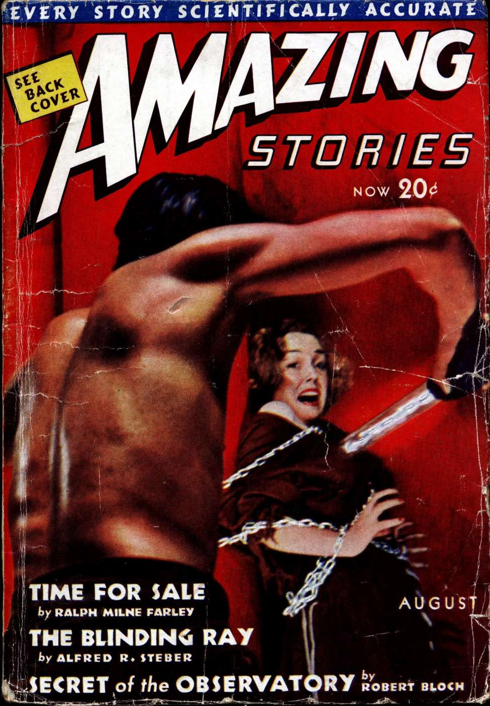 Comic Book Cover For Amazing Stories v12 04 - Secret of the Observatory - Robert Bloch