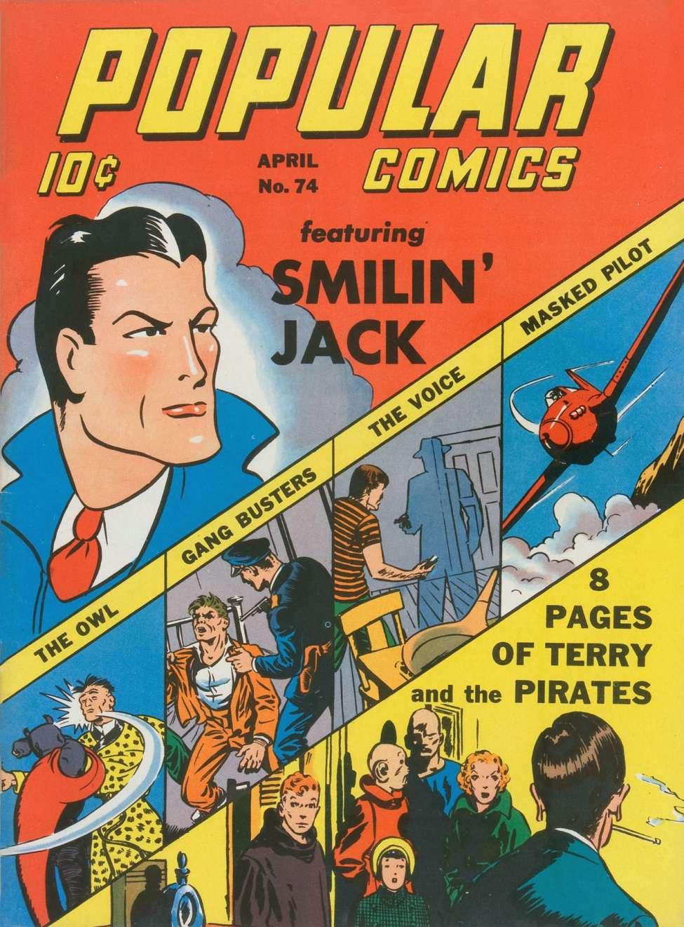 Comic Book Cover For Popular Comics #74