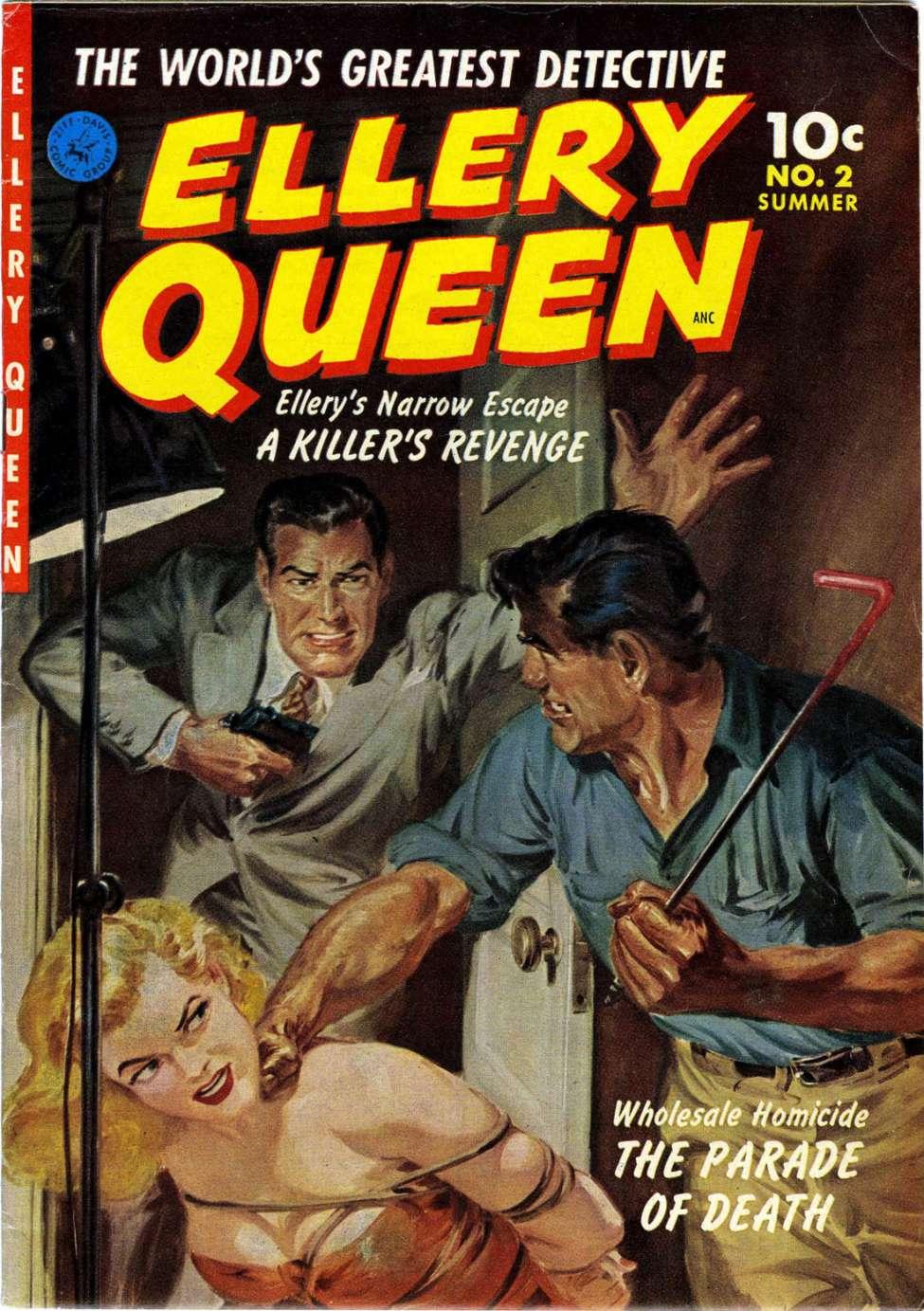 Business Book Cover Queen : Ellery queen ziff davis comic book plus
