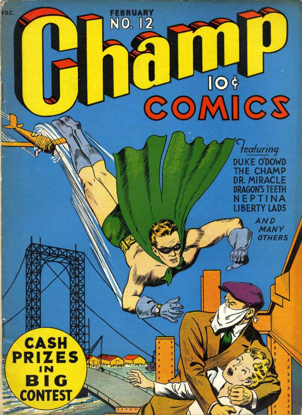 Comic Book Cover For Champ Comics #12 - Version 1