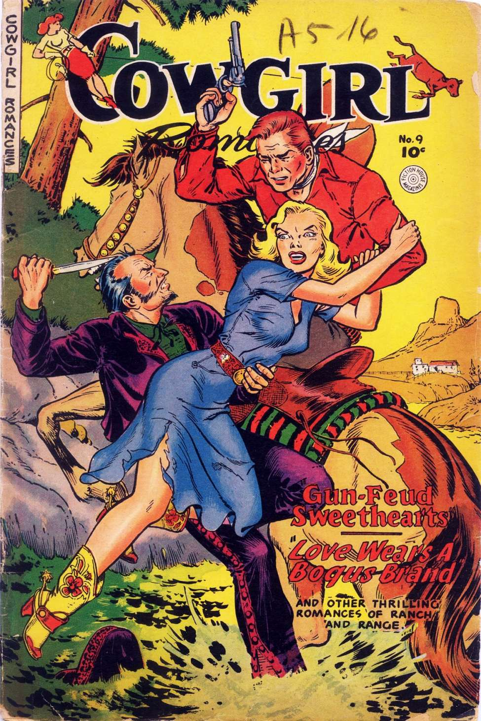 Comic Book Cover For Cowgirl Romances #9